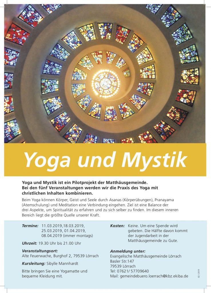 Yoga und Mystik @ Raum der Stille, Alte Feuerwache